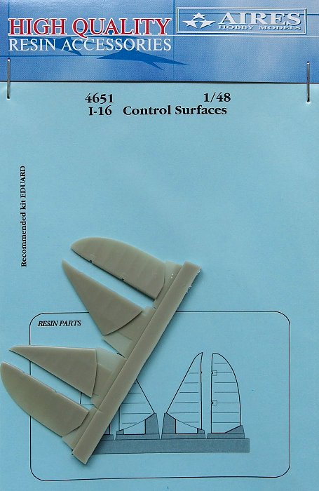 Aires 1//48 Polikarpov I-16 Control Surfaces # 4651
