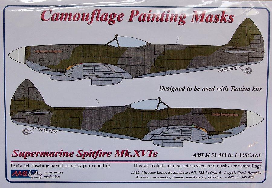 AML Models 1//48 CAMOUFLAGE PAINT MASKS SUPERMARINE SPITFIRE Mk.XVIe