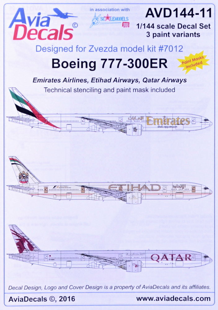 MODELIMEX Online Shop | 1/144 Decals B777-300ER (Emirates
