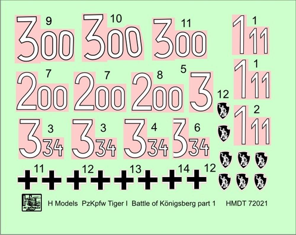 MODELIMEX Online Shop | 1/72 Decals Pz Kpfw VI Tiger I Battle