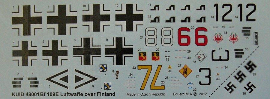 MODELIMEX Online Shop   1/48 Decals Bf-109E Luftwaffe over Finland   your  favourite model shop