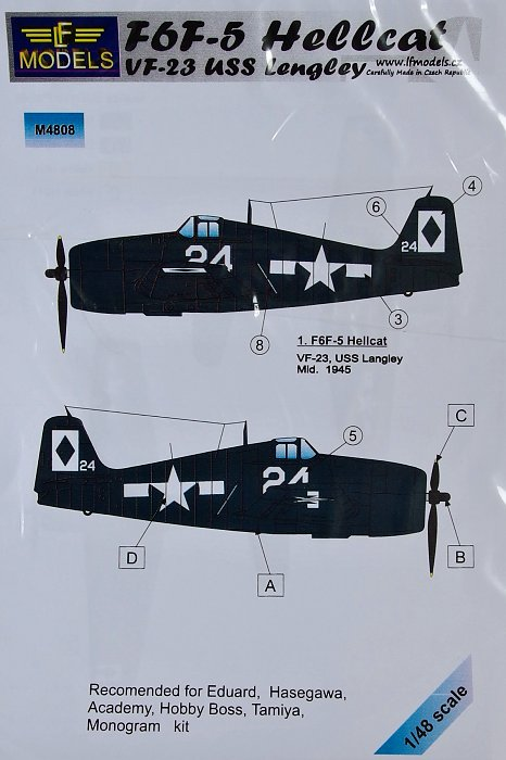MODELIMEX Online Shop | 1/48 Mask F6F-5 Hellcat VF-23 USS
