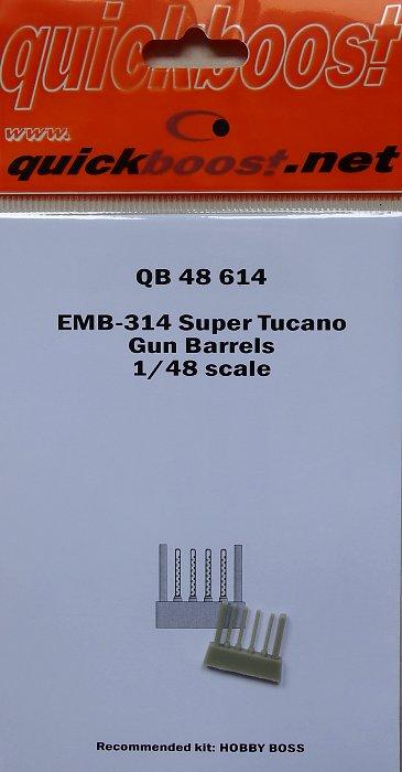 Quickboost 48614 1//48 EMB314 Super Tucano Gun Barrels for Hobby Boss