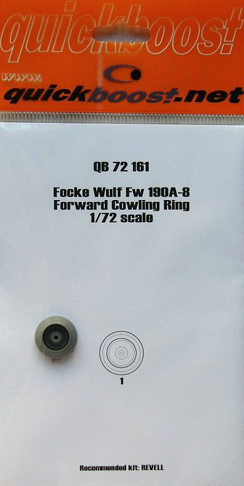 Quickboost 72161  1//72 Fw190A8 Forward Cowling Ring for Revell