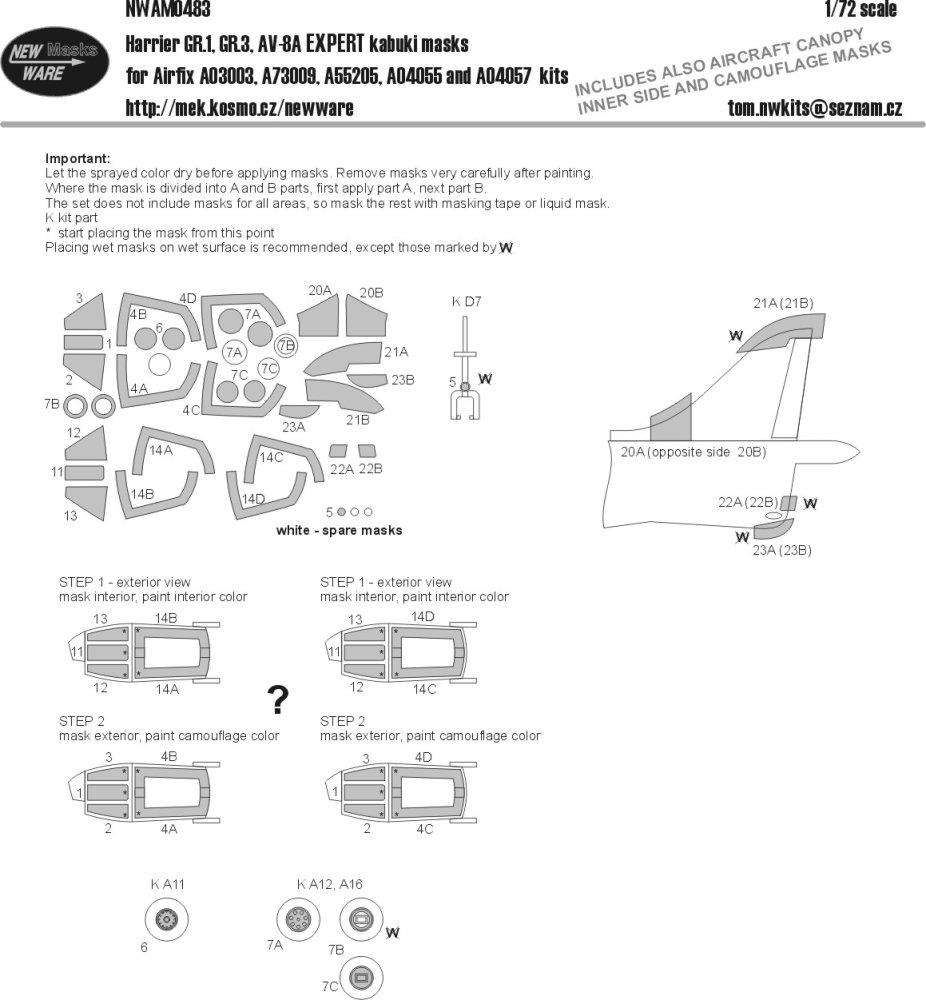 Modelimex Online Shop 1 72 Mask Harrier Frs1 Fa2 Expert Airfix Engine Diagram Gr1 Gr3 Av 8a
